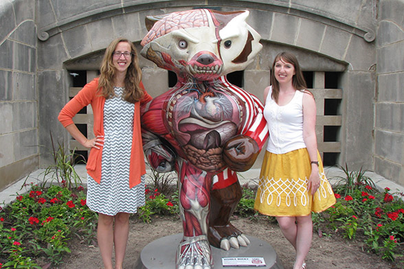 CMB coordinators with Bucky statue