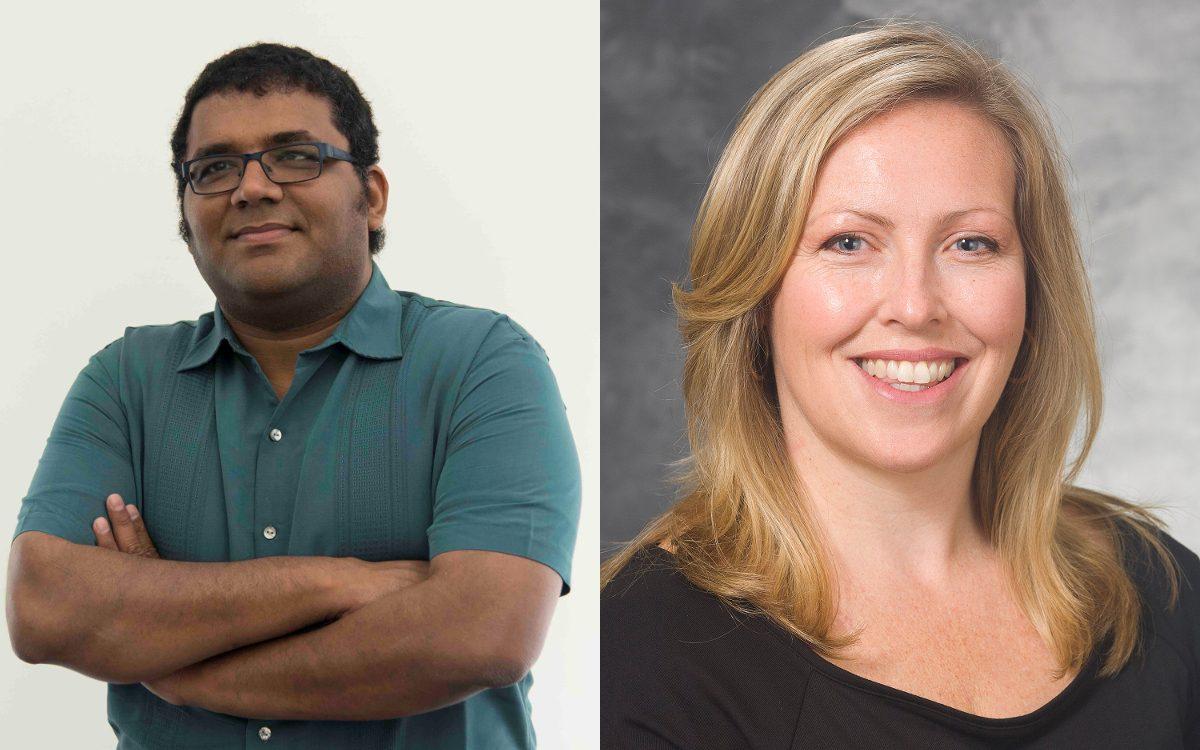 Vatsan Raman and Darcie Moore headshots